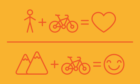 Creative Equation About Bicycles. Vector Illustration. Set Objects. Illustration