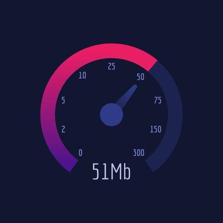 Speedometer Internet Speed 300 mb. Vector Illustration. Vector Icon. Illustration