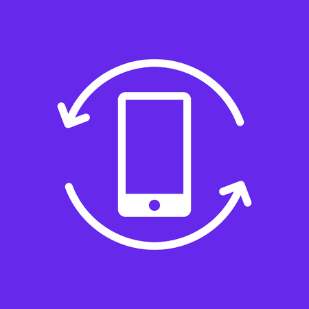 Mobile phone rotation icon. Vector Illustration