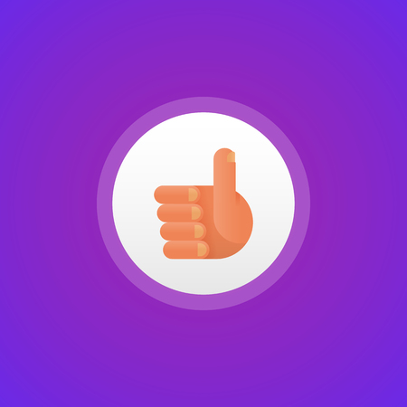 Thumb up social network icon. Vector Illustration