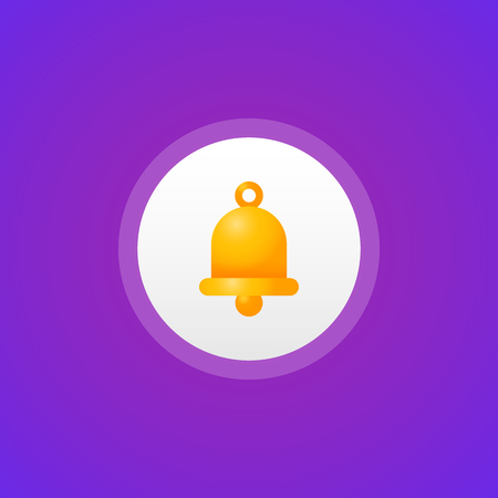 Bell social network icon. Vector Illustration
