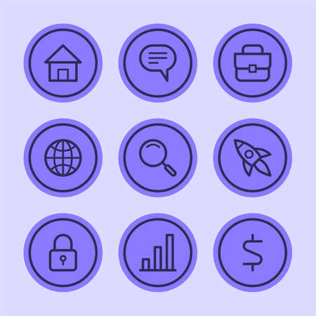 Business icons set part 1. Set vector icons. Vector Illustration