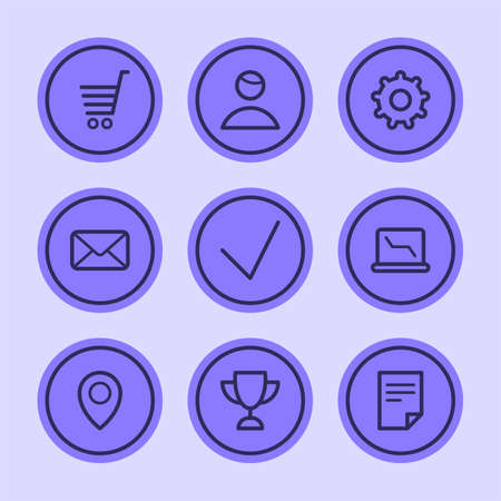 Business icons set part 2. Set vector icons. Vector Illustration