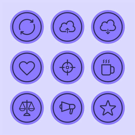Business icons set part 3. Set vector icons. Vector Illustration