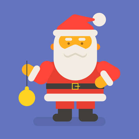 Santa Claus holding christmas toy. Vector character. Vector Illustration 向量圖像