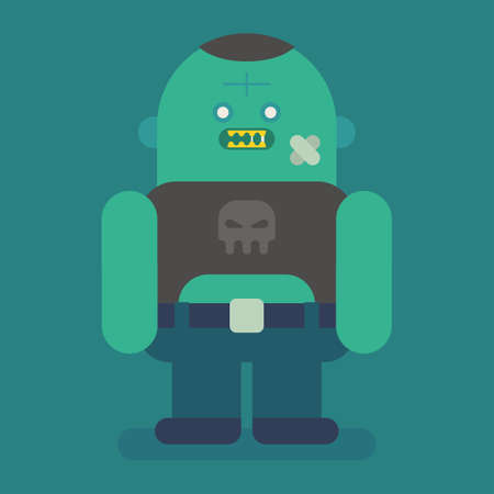 Big and fat zombie character. Vector character. Vector Illustration Illustration