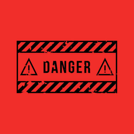 Danger vector sign. Vector icons. Vector Illustration