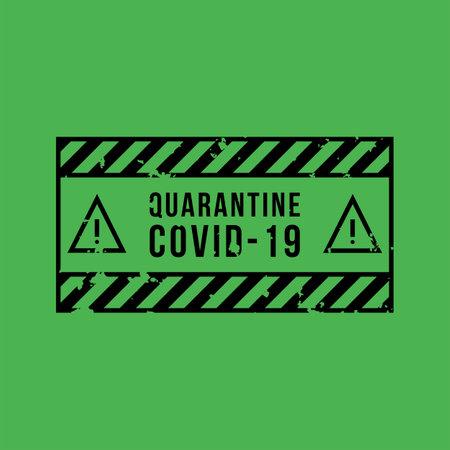 Quarantine covid-19 vector sign. Vector icons. Vector Illustration Illustration
