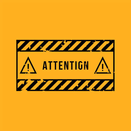 Attention vector sign. Vector icons. Vector Illustration