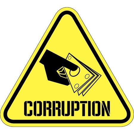 the corruption: corruption Illustration