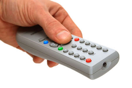 remote control panel by the TV (focus in front part)