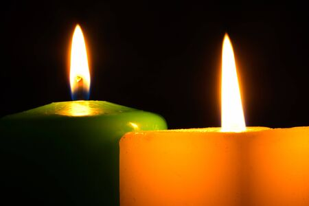 Candles in the Dark Stock Photo - 2103944