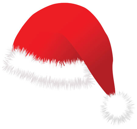 christmas santa cap vector image Illustration
