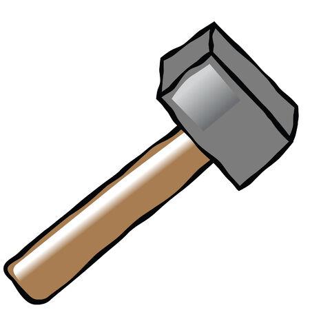 comedian hammer vector image