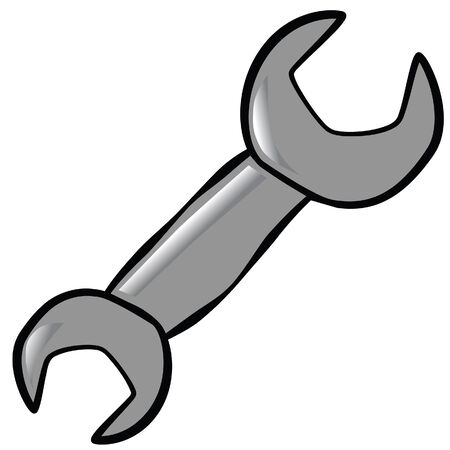 comics wrench vector image