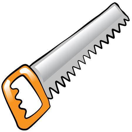 toolbox: comic hedge saw vector image Illustration