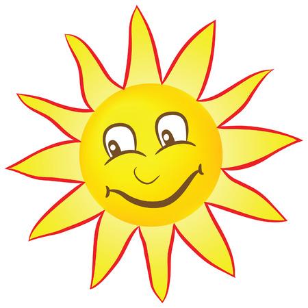 Happy smiling sun Illustration