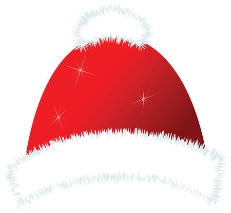christmas santa girl cap vector image
