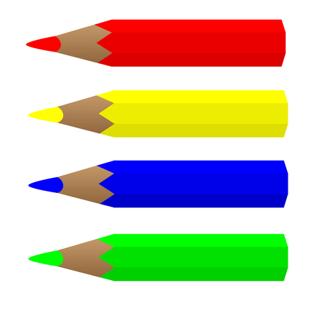 color pensils vector image Illustration
