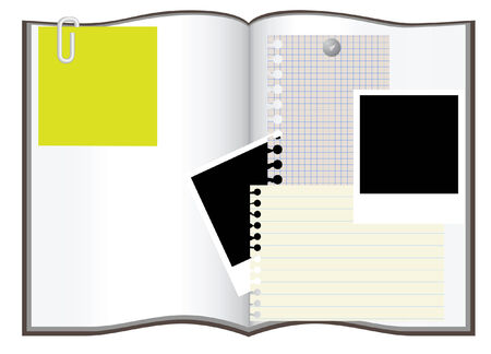 tabbed folder: copybook and other copyspace vector illustration Illustration