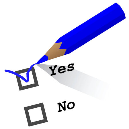 pencil checking yes or no Illustration