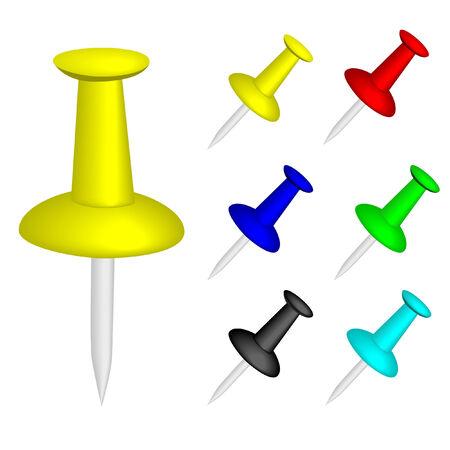 tack: colored tack vector illustration