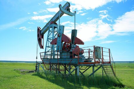 counterweight: Oil Pump Jack In a field