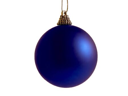 Christmas a sphere of blue colour