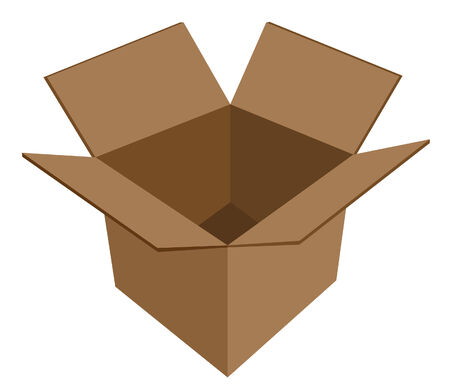 empty cardboard box vector Illustration