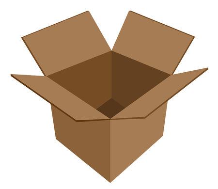 empty cardboard box vector Illustration