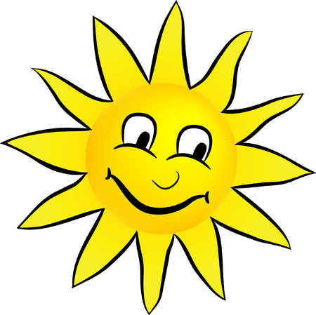 Happy smiling sun Illustration