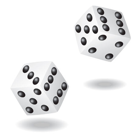 dice vector illustration Stock Illustratie
