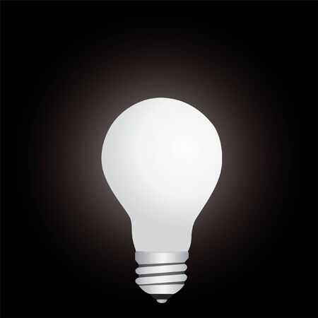 lamp in the dark vector illustration