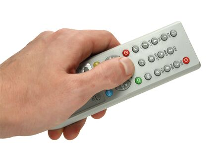 remote control panel by the TV