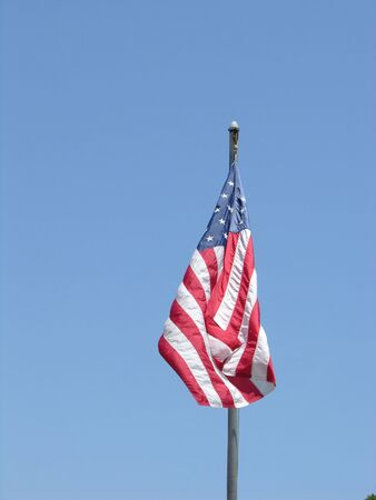 American flag in the breeze Imagens - 2136301
