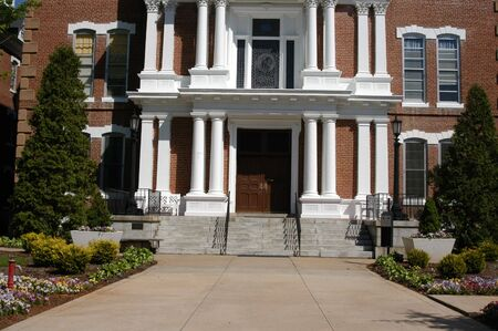 古い病院の農村のノースカロライナ州の建物