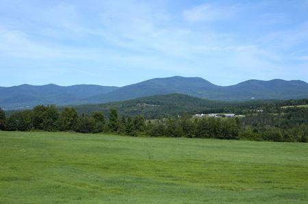 hampshire: A la vista de las Monta�as Blancas en el norte de New Hampshire  Foto de archivo