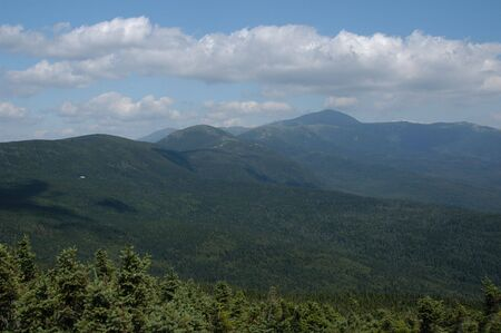 Looking into the Valley of the White Mountains in northern New Hampshire Stock Photo - 2454215