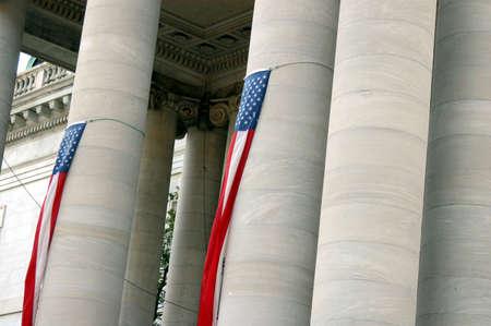 Spalten in einer Regierungsgebäude in Washington, DC Standard-Bild - 2522366