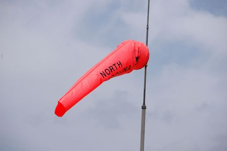 A windsock flying in the breeze in North Carolina