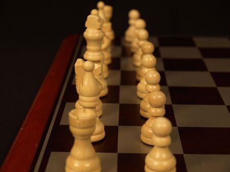 Two rows to start the chess game Stok Fotoğraf