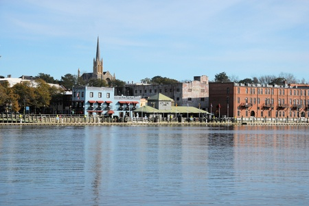 A view of Wilmington North Carolina from across the Cape Fear River Stock fotó