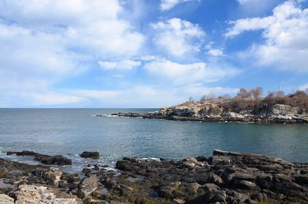The coast of Maine in the early spring time