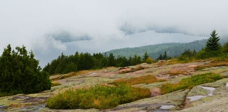 View from the to of Cadillac Mountain in Acadia National Park. Stock Photo