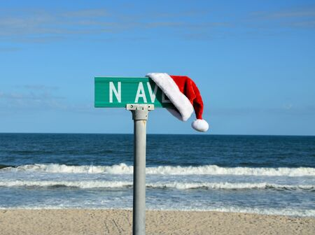 North avenue at christmas time located at the beach photo