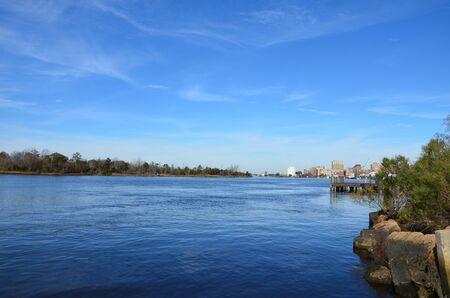 A view along the Cape Fear River in Wilmington North Carolina.