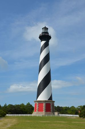 A view of the famous lighthouse at Cape Hatteras Stock fotó