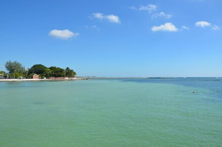 key west: Key West, Florida beach scene in the late summer. Stock Photo