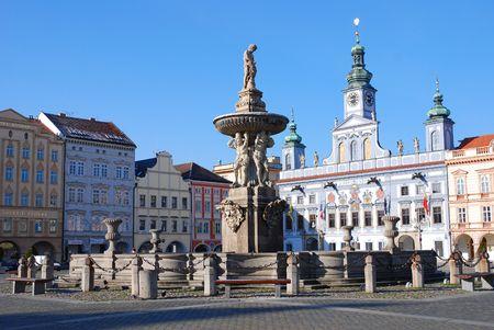 ceske: square in Ceske Budejovice, Czech Republic
