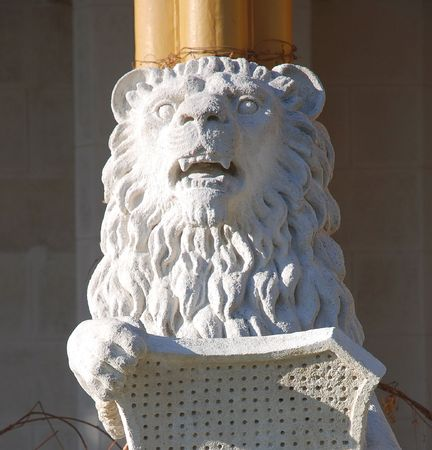 ceske: Stone lion Stock Photo